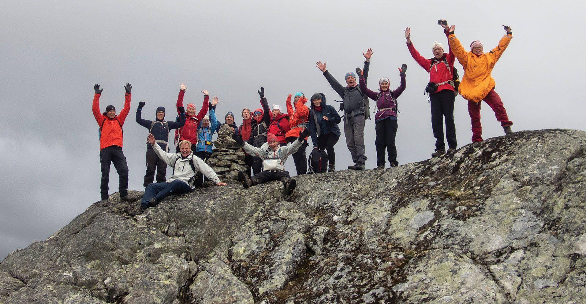 Havpadlere på toppen av Helvetet, 1574 meter over havet.