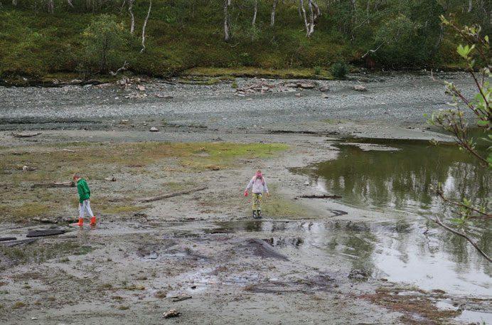 Mange steder blir det bare gjørme igjen når regulerte vann tappes ned.