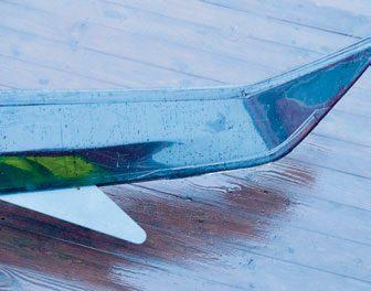 Standard senkekjøl som hjelper til å holde kursen i sterk vind.