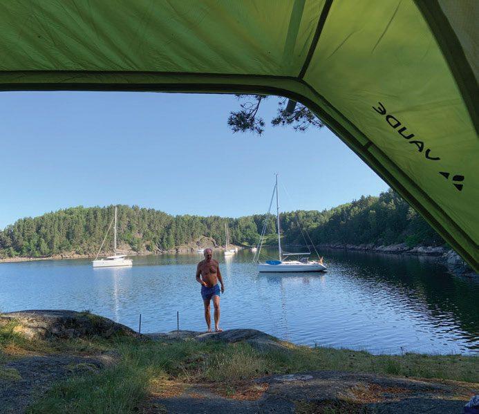 Ikke noe å si på utsikten fra teltet.
