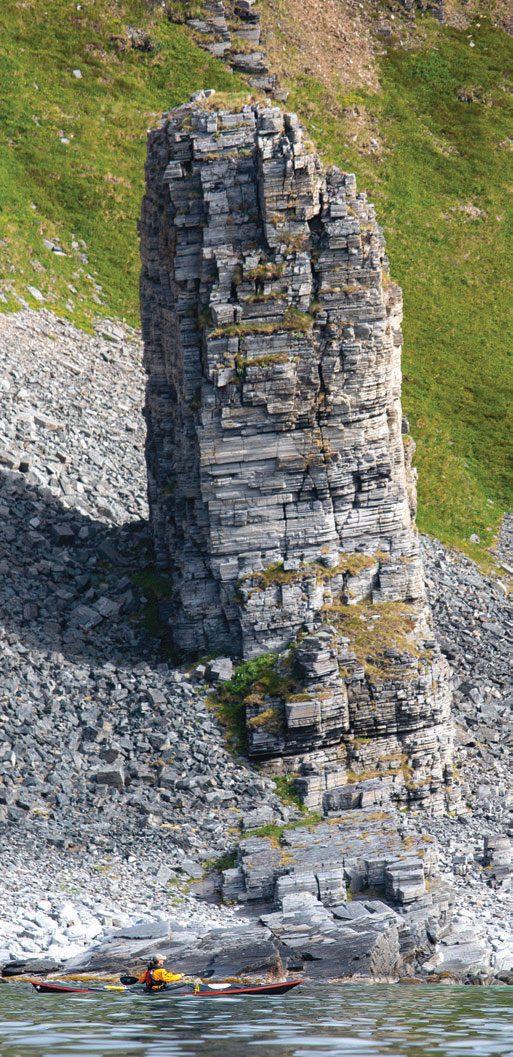 Turen fra Sørvær til Andotten har mye spennende geologi å by på.